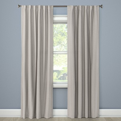 "50""x84"" Aruba Linen Blackout Curtain Panel Gray - Threshold™"