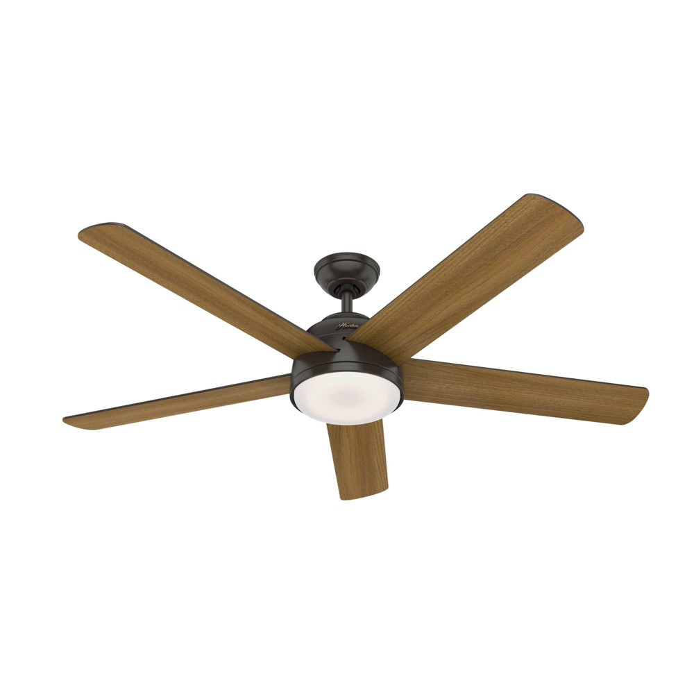 "Image of ""60"""" LED Romulus Wifi DR Ceiling Fan with Light Noble Bronze - Hunter Fan"""