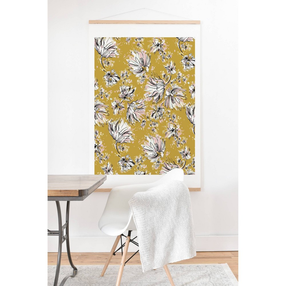 16 34 X 20 34 Pattern State Floral Meadow Framed Wall Poster Print And Hanger Deny Designs