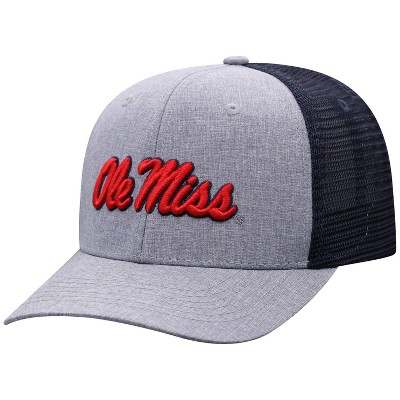 NCAA Ole Miss Rebels Men's Gray Chambray with Hard Mesh Snapback Hat