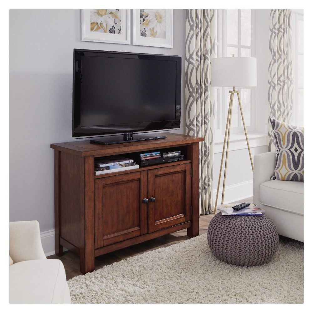 Tahoe Entertainment Stand - Aged Maple (Brown) - Home Styles