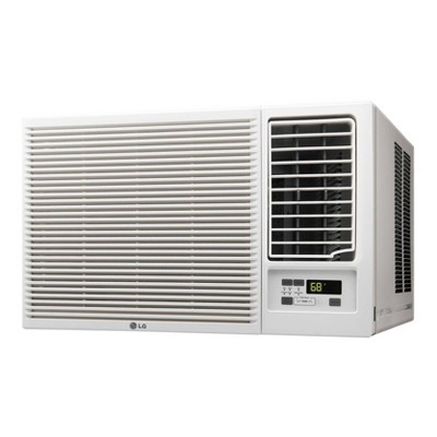 LG Electronics 18,000 BTU 230V Window-Mounted Air Conditioner LW1816HR with 12,000 BTU Supplemental Heat Function