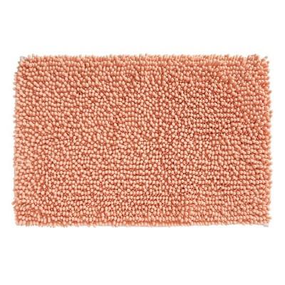 mDesign Soft Microfiber Polyester Non-Slip Rectangular Spa Mat/Rug - Orange