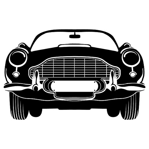 English Car Wall Decal - Black - image 1 of 2