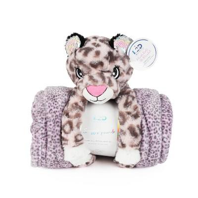 Cheetah Figural Throw and Decorative Pillow