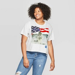 0831b12c5a5e $16.99. Women's Plus Size Short Sleeve Cropped NASA T-Shirt - FREEZE  (Juniors') - Light Gray/Heather. Load more (6)