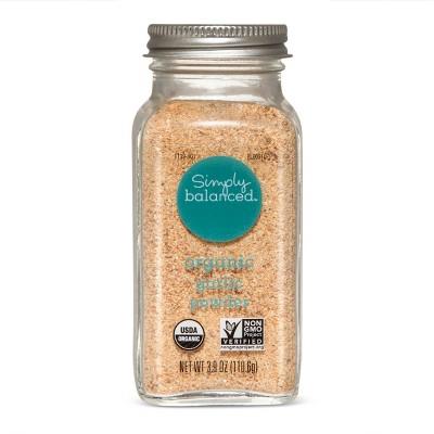 Organic Granulated Garlic - 3.9oz - Simply Balanced™