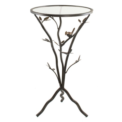 Bird and Branches Tripod Side Table Antique Bronze - FirsTime - image 1 of 3