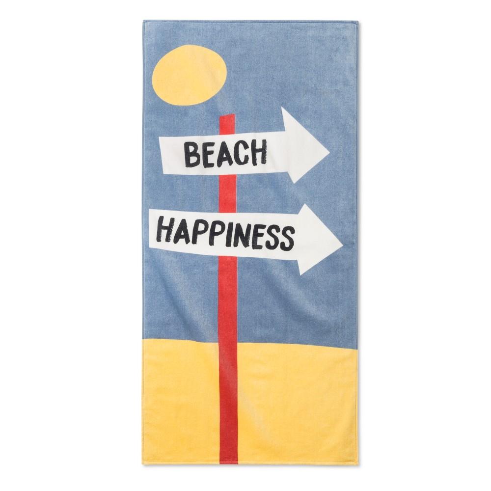 Image of Junk Food Disney Beach Happiness Beach Towel, Blue