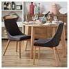 Sullivan Oak Mid Century Barrel Back Dining Chair (Set of 2) - Inspire Q - image 3 of 3