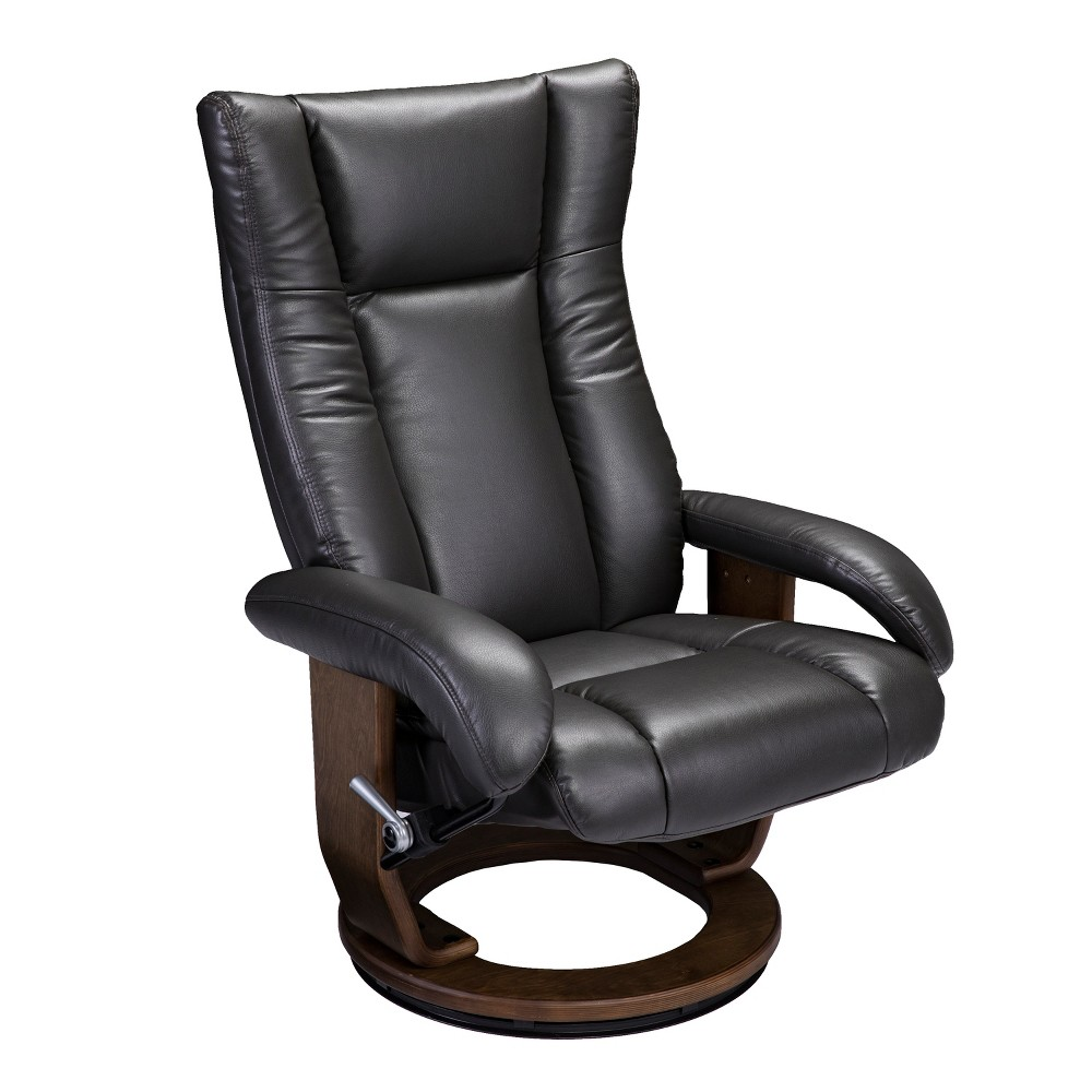 Mikalya Reclining Chair and Ottoman Charcoal (Grey) - Aiden Lane