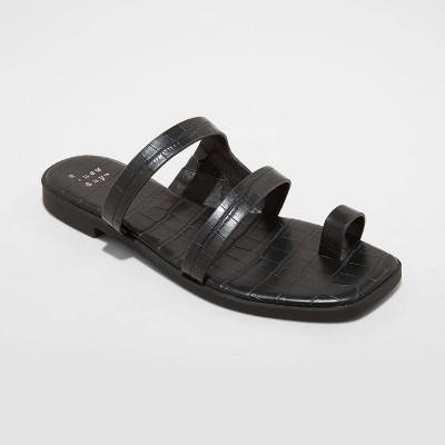Women's Marilyn Toe Loop Slide Sandals - A New Day™