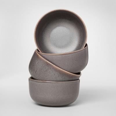Tilley Stoneware Cereal Bowls 23oz Black Set of 4 - Project 62™