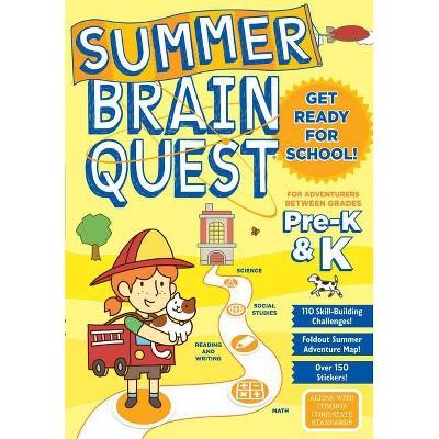 Summer Brain Quest Pre K & K - by Workman (Paperback)