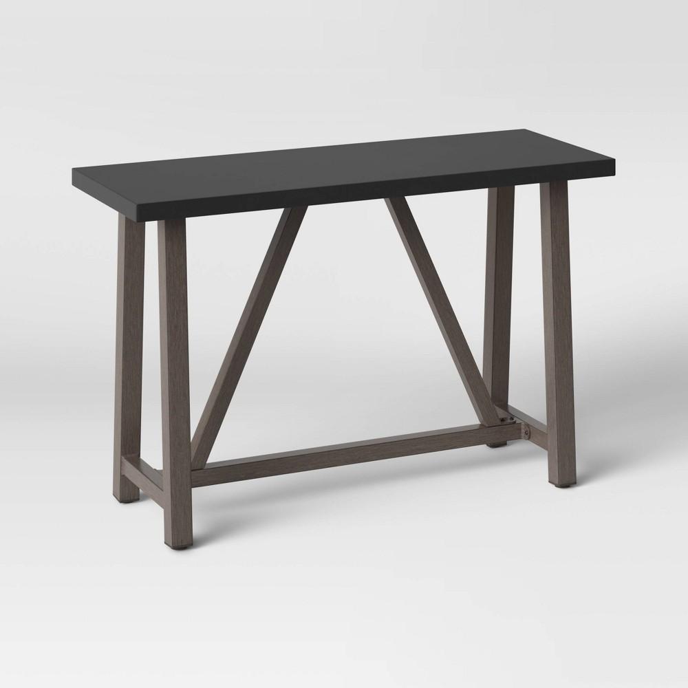 Cheap Concrete & Faux Wood Patio Console Table - Smith & Hawken™
