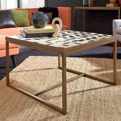 Geometric II Coffee Table Brushed Brass - Home Styles