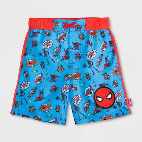 Boys' Marvel Spider-Man Swim Trunks - Blue - Disney Store - image 1 of 3