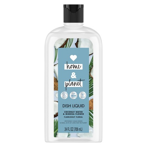 Love Home & Planet Coconut Water & Mimosa Flower Dish Liquid - 24 fl oz - image 1 of 4
