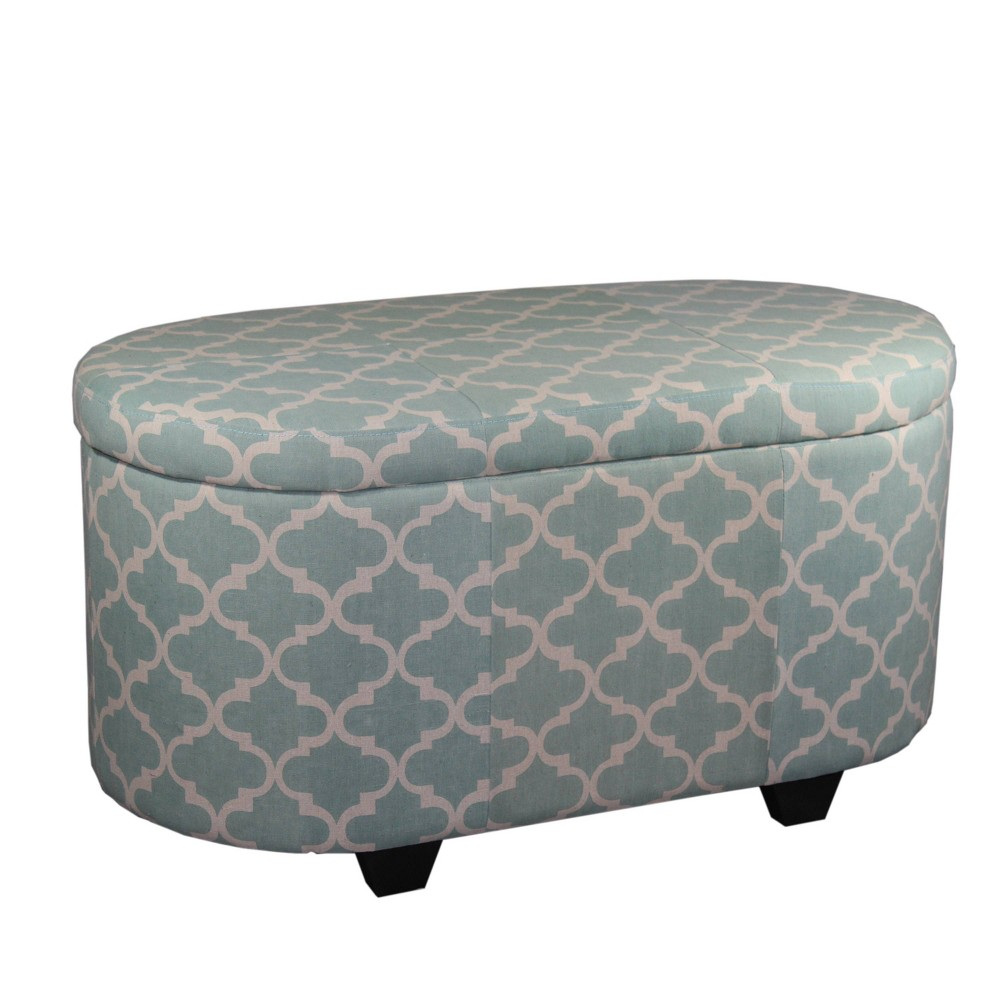 Enjoyable Moroccan Storage Ottoman With 1 Extra Seating Blue Ore Pabps2019 Chair Design Images Pabps2019Com