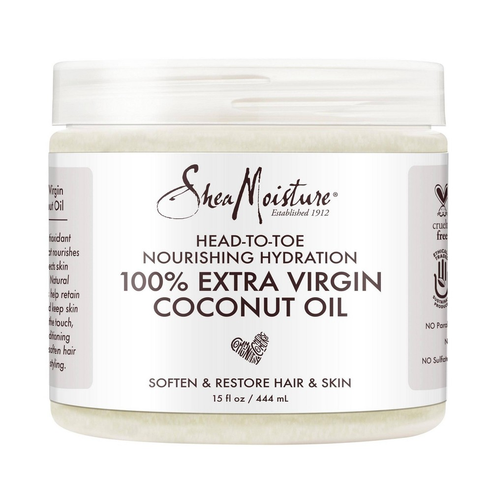 Image of SheaMoisture 100% Extra Virgin Coconut Oil - 15 fl oz