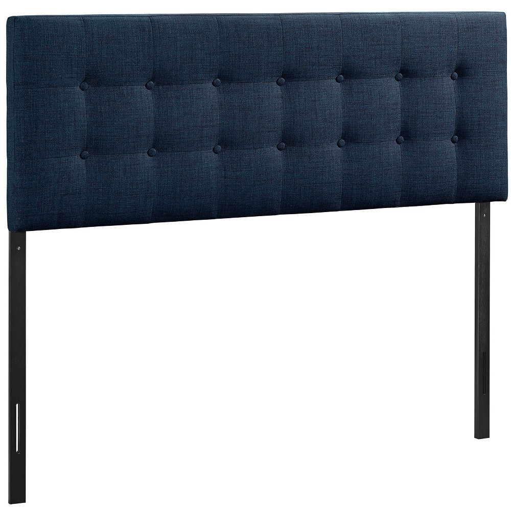 Emily King Upholstered Fabric Headboard Navy (Blue) - Modway