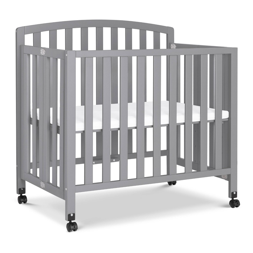Image of Davinci Dylan Folding Portable 3-in-1 Mini Crib And Twin Bed - Gray