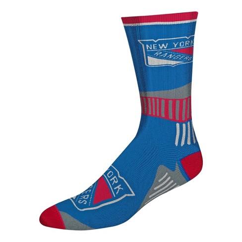 NHL New York Rangers Mesh Charcoal Crew Socks - L - image 1 of 1