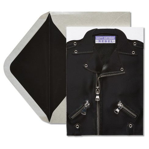Papyrus Leather Jacket Birthday Card - image 1 of 3
