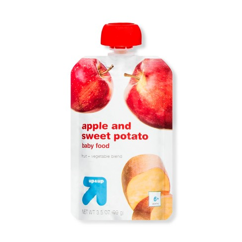 Stage 2 Apple & Sweet Potato Baby Food Pouch - 3.5oz - Up&Up™ - image 1 of 1