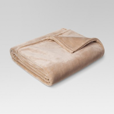 Microplush Bed Blanket (King)Brown Linen - Threshold™