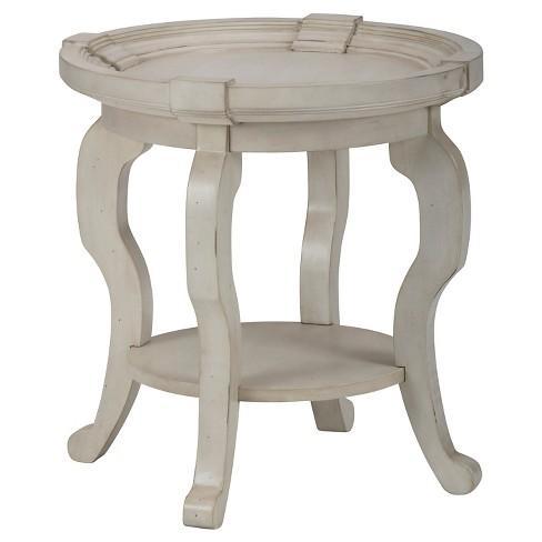 Sebastian Round End Table Dove White Jofran Inc