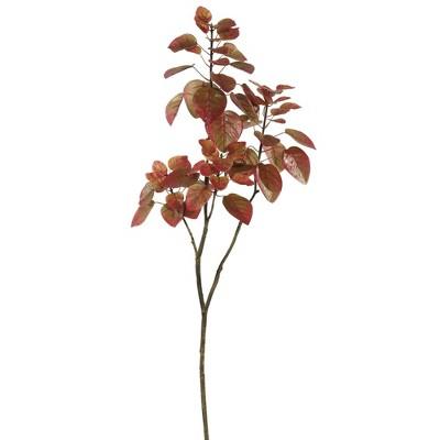 Artificial Cotinus Coggygria Branch (4ft) Red - Vickerman