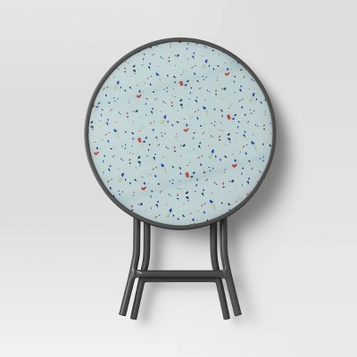 Terrazzo Printed Patio Accent Table - Room Essentials™