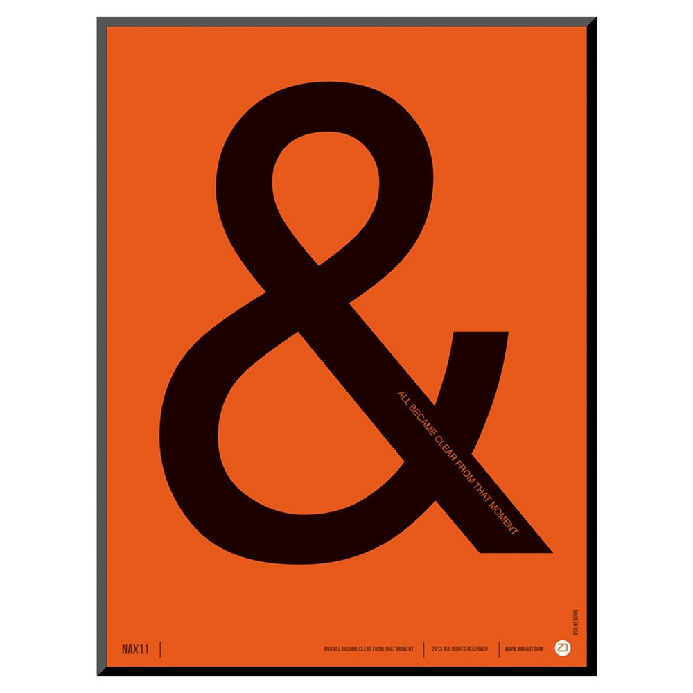 Art.com Became Clear Poster Art Print, Orange