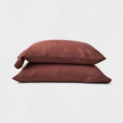 King 100% Hemp Solid Pillowcase Set Clay - Casaluna™