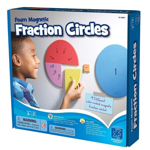 Educational Insights Foam Magnetic Fraction Circles - image 1 of 4