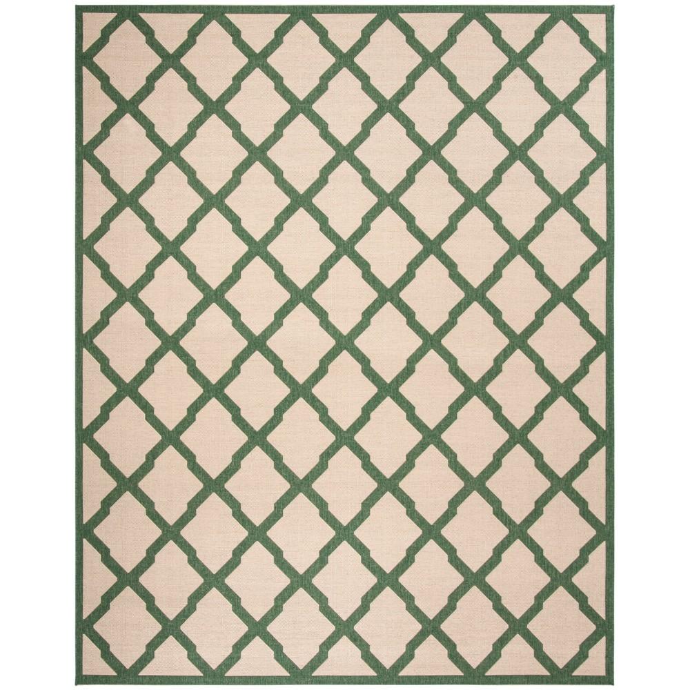 9X12 Geometric Loomed Area Rug Cream/Green - Safavieh Discounts