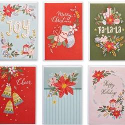 48ct Blank Holiday Greeting Card Bundle