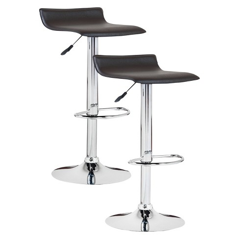 Swell Adjustable Height Swivel Bar Stool Set Of 2 Leick Furniture Uwap Interior Chair Design Uwaporg
