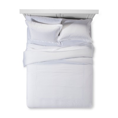 White Tonal Hotel Comforter Set (Queen)- Fieldcrest®