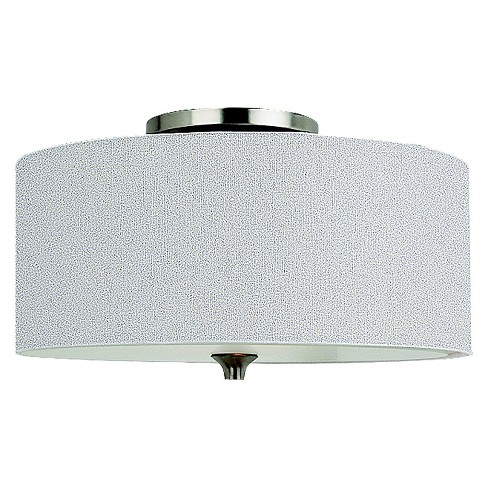 Sea Gull Lighting Two Light Ceiling Fixture Brushed Nickel
