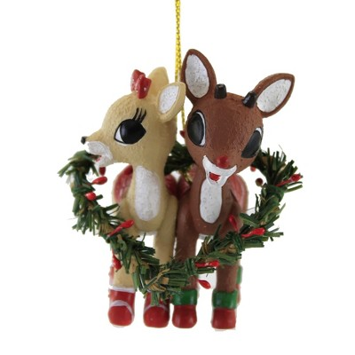 """Holiday Ornament 3.0"""" Rudolph And Clarice Ornaments Christmas Love Reindeer  -  Tree Ornaments"""
