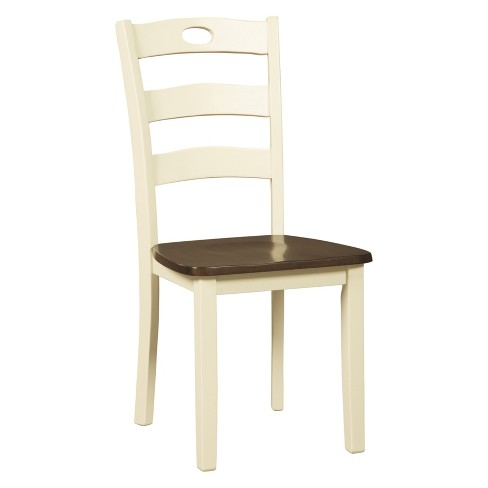 Set of 2 Woodanville Dining Room Side Chair White/Brown - Signature Design  by Ashley