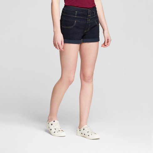 8c6ae48e249 Women s High-Rise Triple Stack Jeans Shorts -Mossimo Supply Co.™ Navy