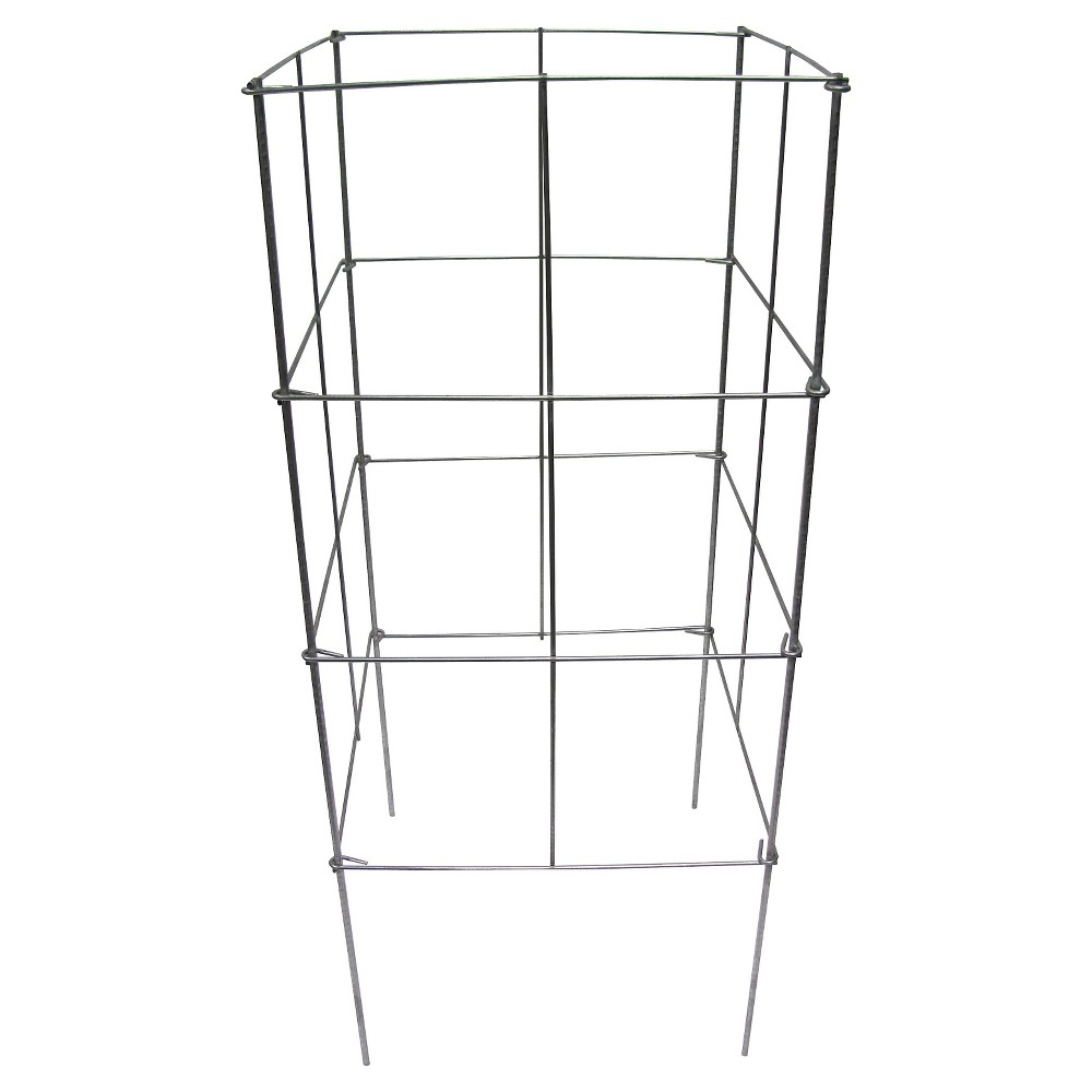 """Image of """"16"""""""" x 42"""""""" Heavy Duty Stackable Square Plant Support 10 Pack - Galvanized - Glamos Wire"""""""