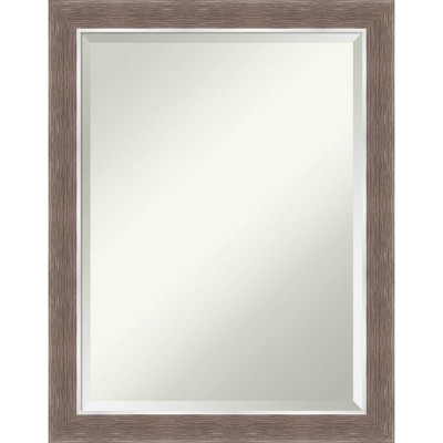 "22"" x 28"" Noble Mocha Framed Bathroom Vanity Wall Mirror - Amanti Art"