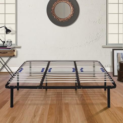 Platform Bed Frame Box Spring Replacement with Adjustable Lumbar ...