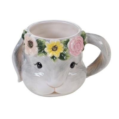 18oz 4pk Earthenware Sweet Bunny 3-D Mugs - Certified International