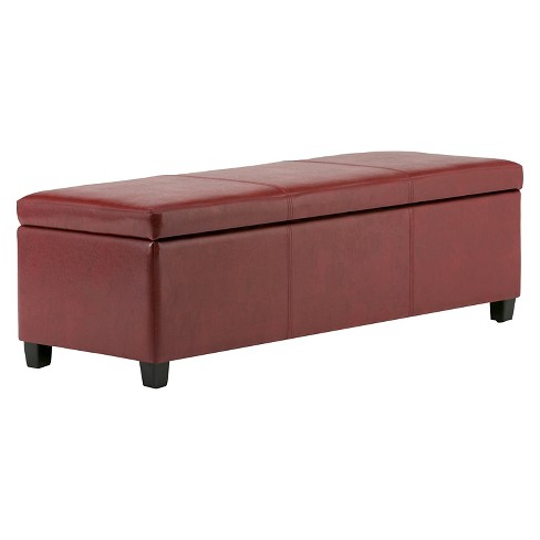 Awesome Avalon Large Rectangular Storage Ottoman Bench Target Ncnpc Chair Design For Home Ncnpcorg
