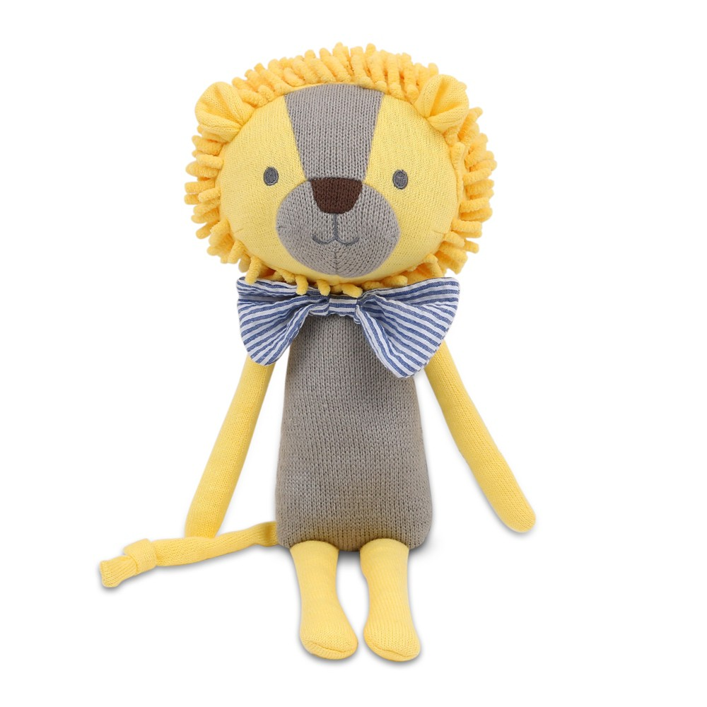 Image of Peanut Shell Leon the Lion Knit Plush